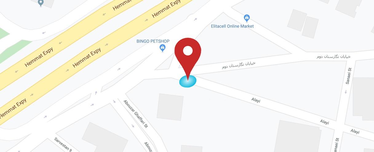 لوکیشن شرکت سبد آی تی | SabadIT location